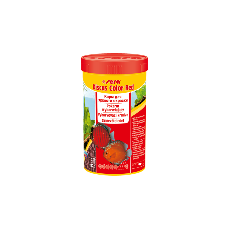 Karma dla rybek sera discus color red 100 ml, granulat - pokarm dla pielęgnic [se-00332] 100 ml