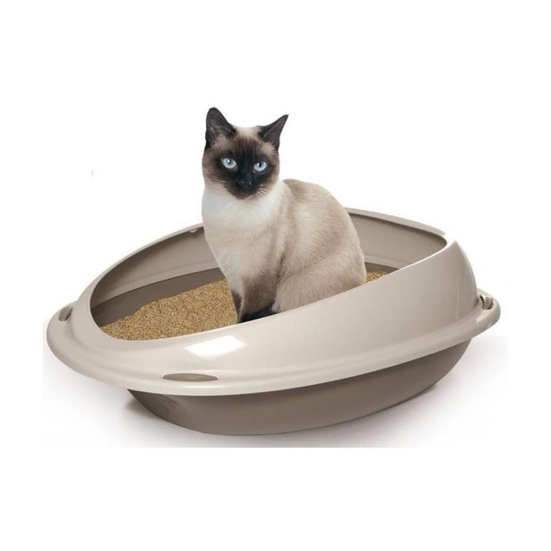 Kuwety dla kota yarro kuweta dla kota z profilowaną, jasną ramką 57x40x19cm, pudrowy niebieski [y10533 nieb]
