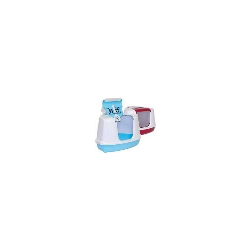 Kuwety dla kota yarro toaleta narożna flip z filtrem i łopatką, kolor fun, 55,7x45x39cm lemon [y3400-0997 lem]