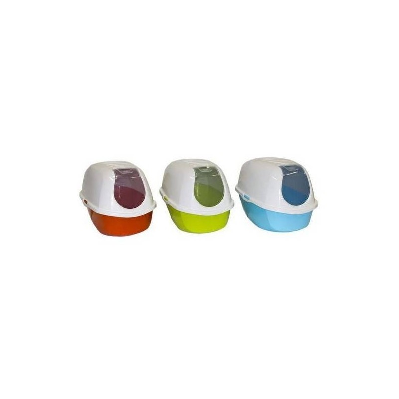 Kuwety dla kota yarro toaleta z filtrem mega eco-line kolor kiwi 46x66x49cm [y3405-1317 kiwi]