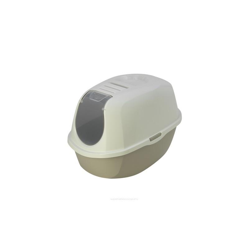 Kuwety dla kota yarro toaleta z filtrem eco-line kolor classic 53x39x41cm ciepły szary [y3410-0958 s]