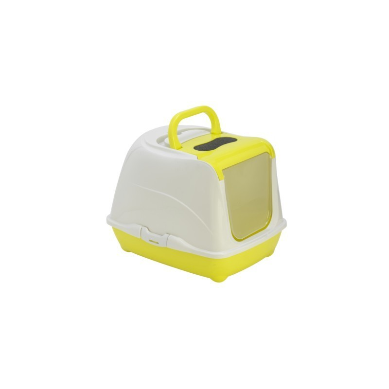 Kuwety dla kota yarro toaleta flip nr 1 z filtrem i łopatką, kolor fun, 39x50x37cm lemon [y3411-0797 lem]