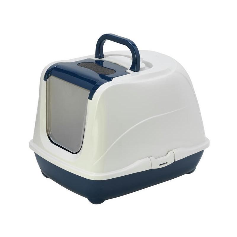 Kuwety dla kota yarro toaleta flip nr 2 z filtrem i łopatką, kolor classic, 45x58x42cm granatowa [y3418-0732 g]