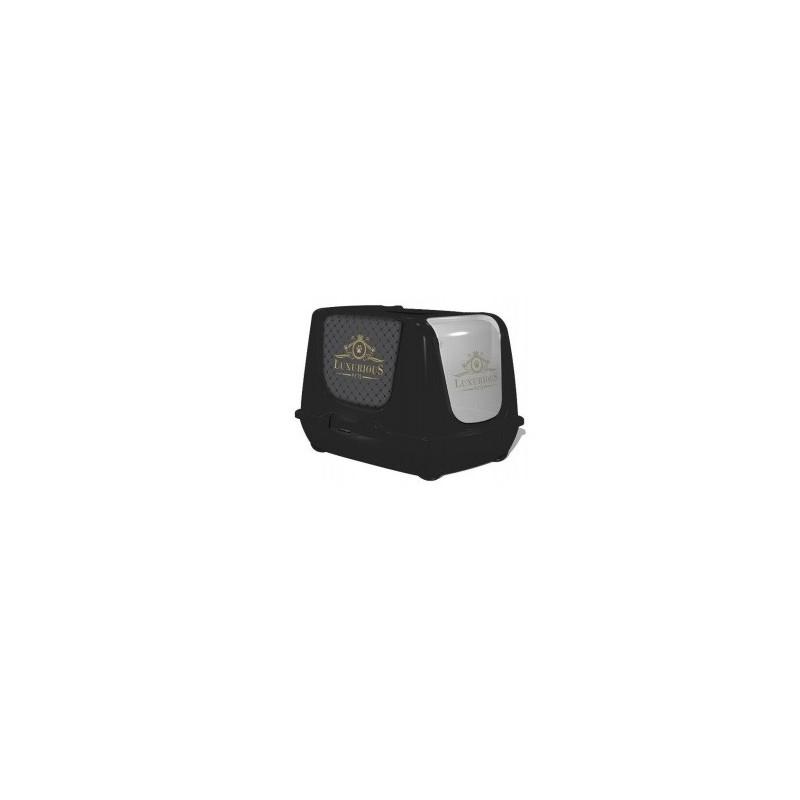 Kuwety dla kota yarro toaleta z filtrem trendy dla kota luxurious, czarna, 39,5x50x37,5cm [y3448-1313]