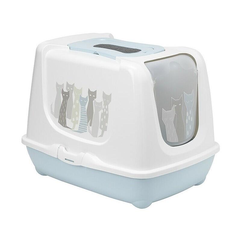 Kuwety dla kota yarro toaleta trendy z filtrem i łopatką dla kota - masai, 39,5x50x37,5cm [y3454-1776] - wycofane