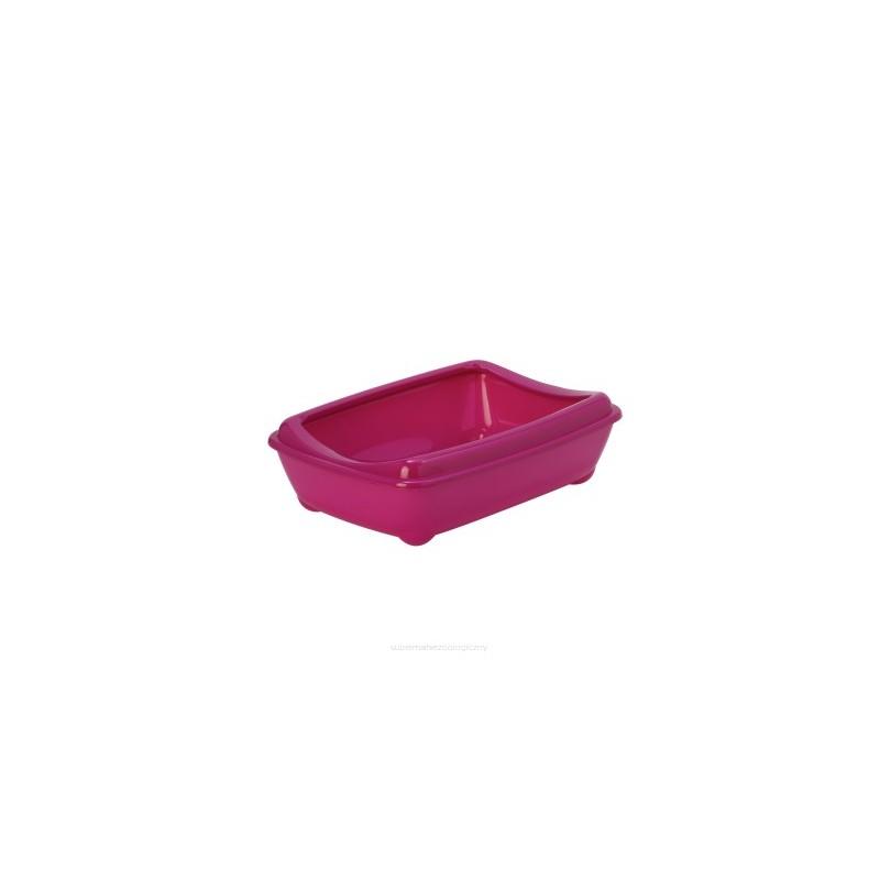 Kuwety dla kota yarro kuweta mała owalna z ramką kolor fun 42x31x13cm fuksja [y3600-1386 fuks]