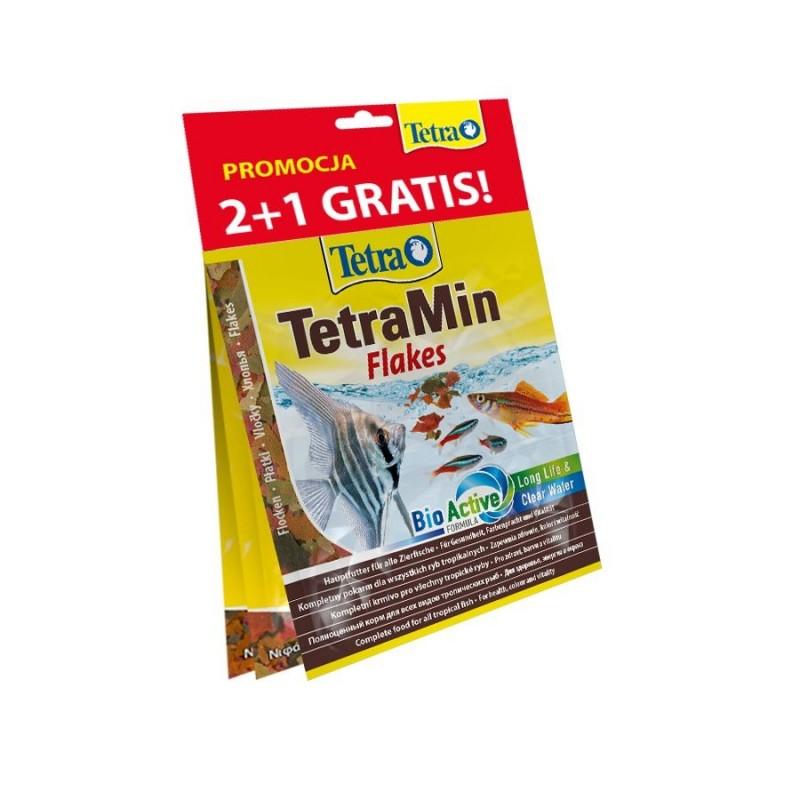 Karma dla rybek tetra zestaw saszetek 2+1 gratis (tetrarubin 12g [t766396], tetraphyll 12g [t134430], tetramin 12g [t766402]) [t802030]