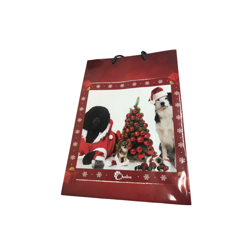 Pozostałe akcesoria dla psa chaba torebka świąteczna - choinka