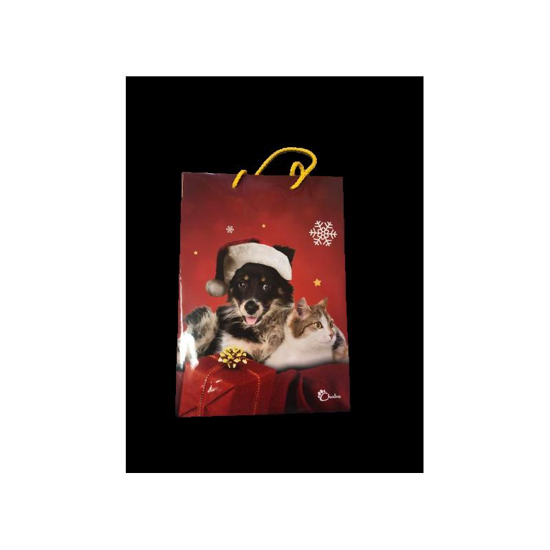 Pozostałe akcesoria dla psa chaba torebka świąteczna - czarny pies