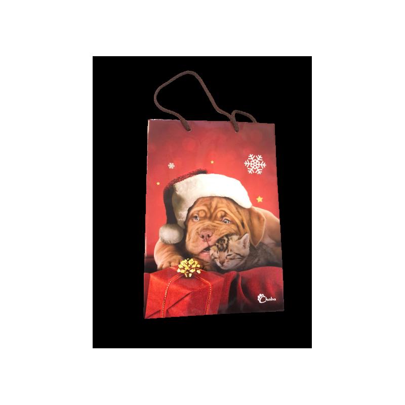 Pozostałe akcesoria dla psa chaba torebka świąteczna - karmelowy pies